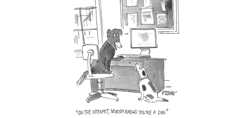 © Peter Steiner, On the internet, nobody knows you're a dog, 2019