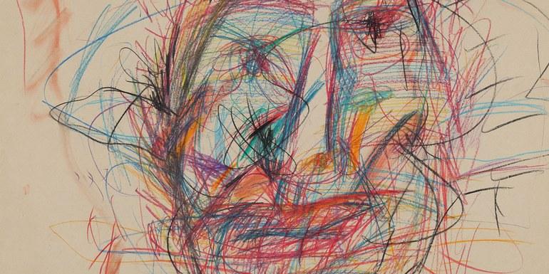 © Adolf Frohner, Gesicht (Detail), 1983, Adolf Frohner gemeinnützige Privatstiftung