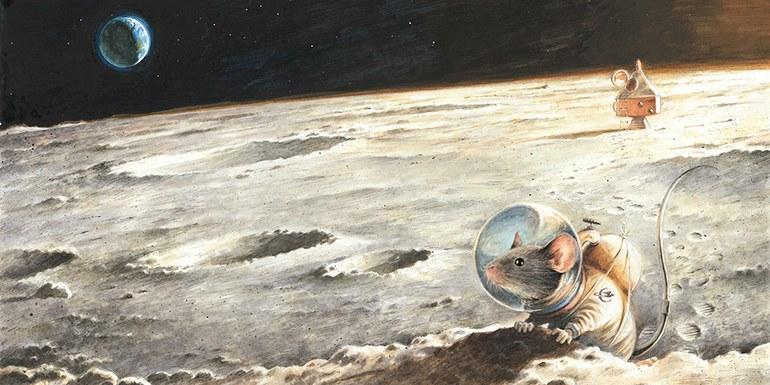 © Torben Kuhlmann, Der erste Erdbewohner auf dem Mond, 2015