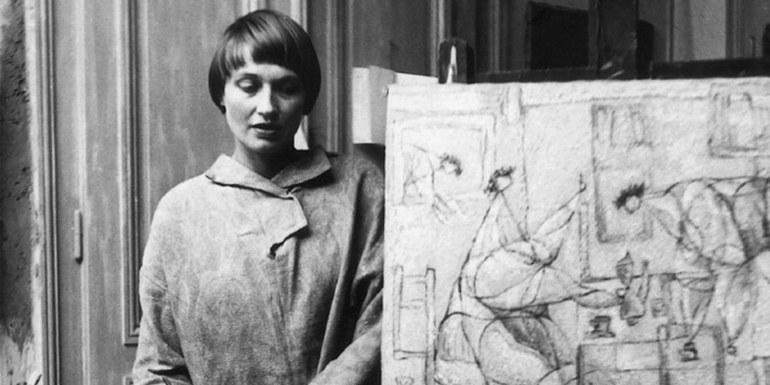 """© Susanne Wenger, """"Die Vögel sind nicht eingeladen"""" (Ausschnitt), 1947, Courtesy: Susanne Wenger Archiv"""